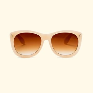 "Shady Spex ""CAUTIOUS LIP"" sunglasses, Bone w/Dark Brown Gradient"