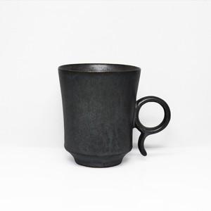 無骨な雰囲気が心を擽ぐる 陶芸作家【古賀崇洋】Mug Cup マグカップ ver.01   (BLK)