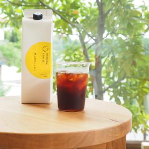 「暑い日のオトモニ」リキッドコーヒー無糖1,000ml×1
