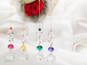 キット★高級クリスタルガラス使用オクタゴンのサンキャッチャー