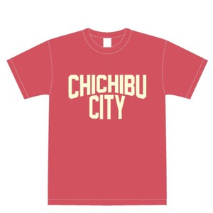 CHICHIBU CITY T-shirt Flamingo pink × Cream