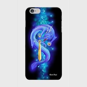 【iPhone6Plus/6sPlus】Blue Dragon of Wisdom 叡智の青龍 ツヤありハード型スマホケース