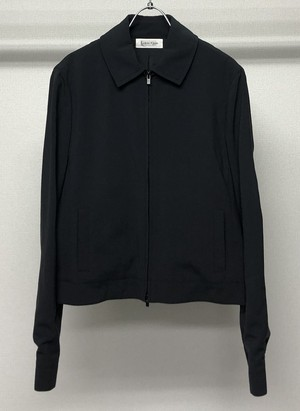 1990s CALVIN KLEIN COLLECTION CROPPED ZIPUP BLOUSON
