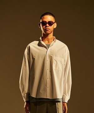 Military Sleeve Band Collar Shirt -white <LSD-BJ1S1>