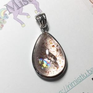 【早割】綺麗な虹入りレピドクロサイトインクォーツペンダントトップシルバー925