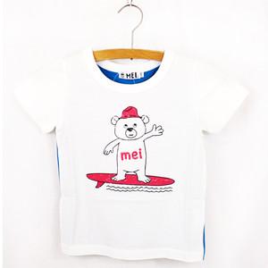 MEI KIDS colorful  tee(メイ キッズ カラフルTシャツ ベアプリント 半袖シャツ) KME-000-172010