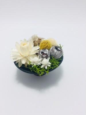 【作者:M・E】◆陶芸◆和モダンアレンジメント