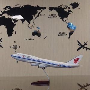 送料無料 中国国際航空 模型飛行機 LED点灯 スタンド付
