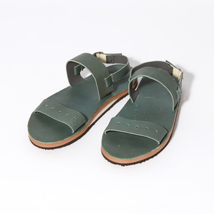 【FILL THE BILL】《MENS》MILITARY LEATHER SANDAL - OLIVE