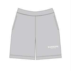 EURROPA LOGO SWEAT HALF PANTS(Gray)
