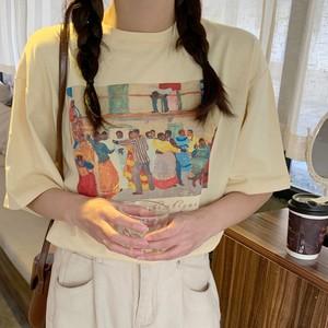 2021SS ルーズピクチャープリントTシャツ S3526
