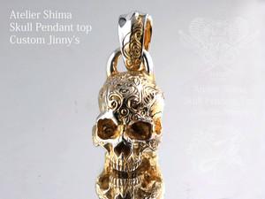 (限定ゴールドコンビ加工)Atelier Shima Skull pendant top Custom Jinny's