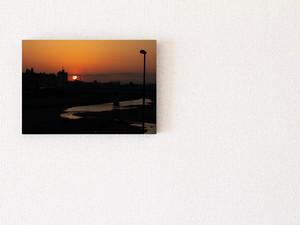 【A4サイズ相当】パネル写真:夕日②