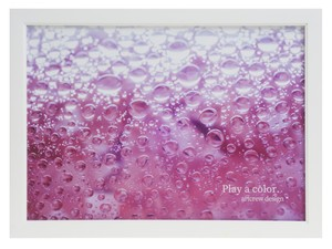 Play a color. ~Pink Soda~  A4サイズ 白い額入り