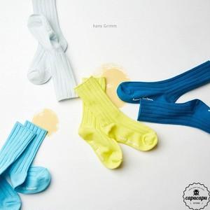 «予約» soft rib socks blue set  ソフトリブソックス ブルーセット 靴下