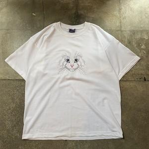 90s Cat T-shirt / USA