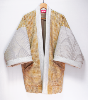 Gold wool haori coat