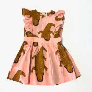 ミニロディーニ(minirodini) - Crocco ruffled dress【pink】[104/110・116/122]
