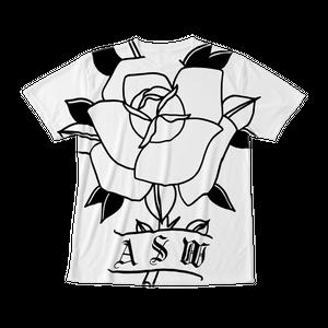 フルグラフィックTシャツ TRAD ROSE ホワイト