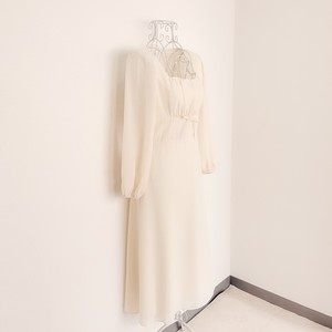 Cream squareneck dress