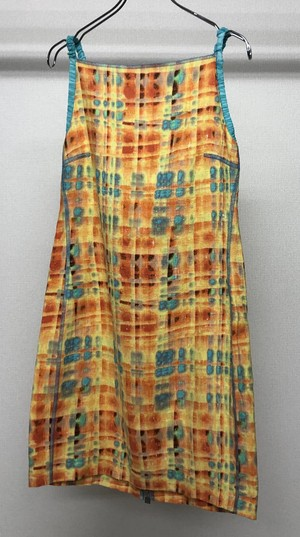 1990s FENDI TIEDYE BACK STRAP DRESS