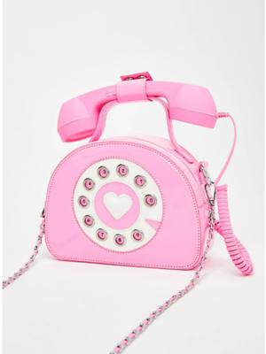 【SELECT】ピンク電話ショルダーバッグ