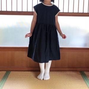 【受注生産】90cm100cm白いりぼんのワンピース半袖