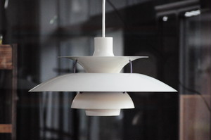 Vintage White PH5 Hanging Lamp by Poul Henningsen for Louis Poulsen, 1950'S