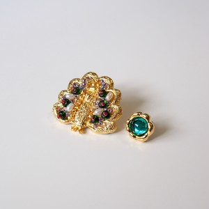 "peacock & flower pierce ""Lara"""