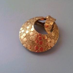 【ART】スカーフ留めに嬉しい機能! ピン&バネ式のブローチ 60年代