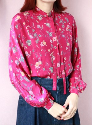 ungaro floral silk ribbon blouse