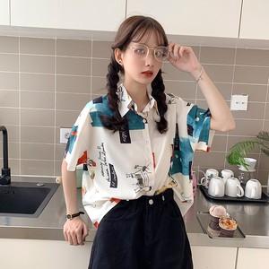 【トップス】切り替えPOLOネックカジュアルファッションシャツ