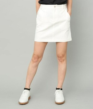 ヒップポケットロゴ刺繍入りセミAラインスカート