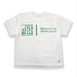 EVER AFTER ビッグTシャツ White/Green【EVSU-111】