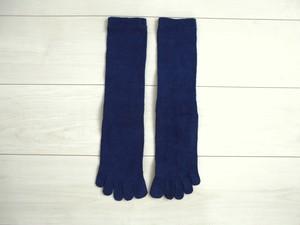 ◆100%自然素材 天然灰汁発酵建て 本藍染◆ ヘンプ&コットン(EM加工繊維)5本指ソックス(大きいサイズ)