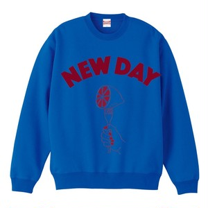 NEW DAY SWEAT Blue <kids size130>