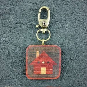 wooden inlaid charm IH-025-PD