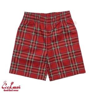 Cookman chef short pants タータンチェック レッド シェフショートパンツ西海岸スタイル