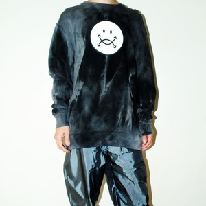 『TARZANKICK!!!』 smiley tie-dye sweatshirt