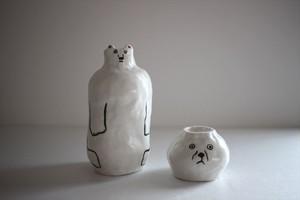 室井雑貨屋(室井夏実)|徳利とお猪口の変身セット 熊犬
