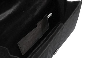 Atelier Kyoto Nishijin/西陣織シルク・貼りフォーマルバッグ・影格子・日本製