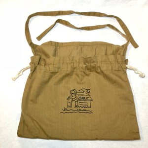 "3-Way Red Cross Bag, Khaki, ""Fuck It"""