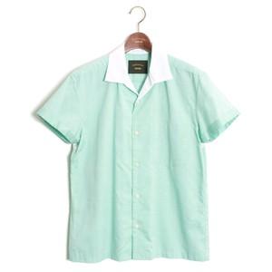 Open collar Cleric Shirt -Mint