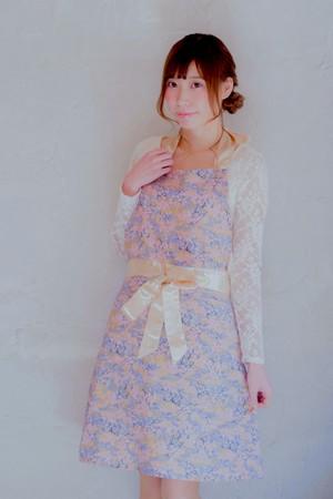 【結婚祝い、誕生日に♪】桜吹雪 エプロン ピンクグレー