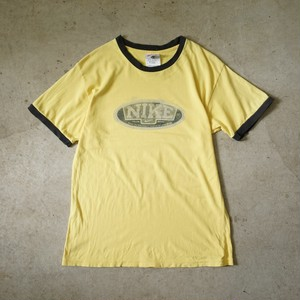 90s NIKE ringer-T yellow&black