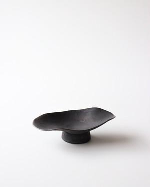 海底のコンポート(Black) 小皿