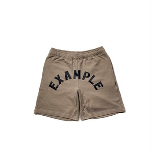 ARCH LOGO SWEAT SHORT PANTS / BEIGE