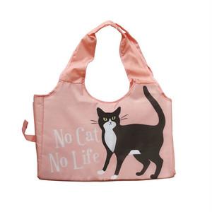 【Abeille】猫柄ショッピングバスケットバッグ(ピンク)保冷保温【ARA-2000】