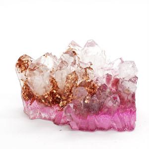 水晶クラスター型オルゴナイト ピンクトルマリン&ローズクォーツ