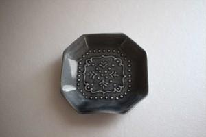 豊田雅代|豆皿スクエア グレー